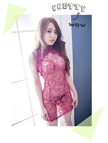 cosplay角色扮演美人旗袍~復古薄紗改良式旗袍cosplay服裝*流行E線A7031
