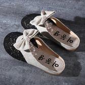 包頭半 拖鞋新款  拖鞋女夏季 外穿平底無后跟懶人一腳蹬涼拖網紅 熱銷88折