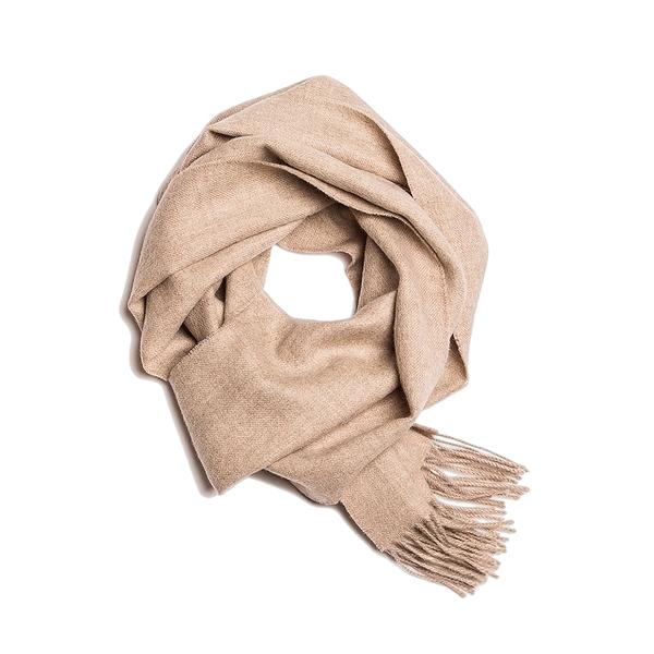 Alpaka Scarf Exclusive 100% 30x200cm 極致系列 素面單色 羊駝毛 超輕量 圍巾(牛奶咖啡)