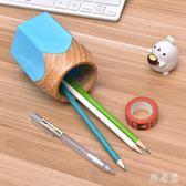 創意鉛筆學生筆筒塑料材質卡通可愛mj4851【雅居屋】