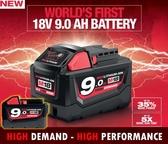 【台北益昌】超大容量!!!!9.0AH 鋰電池 Milwaukee 米沃奇 美沃奇