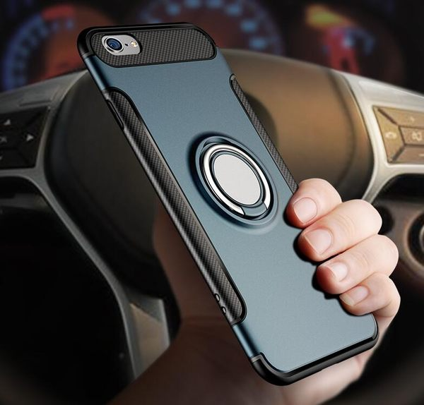 蘋果Apple 6/6s plus 手機殼 防摔全包邊殼 iPhone 6/6s 超薄手機外殼 指環支架新款 手機保護套
