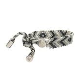 LOUIS VUITTON 路易威登 Friendship Bracelet 灰白色編織牛皮手環 MP223E 【二手名牌BRAND OFF】