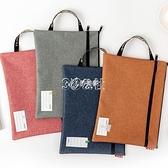 手提包文件袋拉鏈a4小學生分類科目袋帆布辦公男女收納資料袋訂製