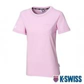 K-SWISS Ks Logo Crew Neck Tee短袖T恤-女-粉紫