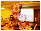 婚禮佈置~台北縣永和市情意花坊網路花店~新人相片區氣球佈置包套優惠價5999元