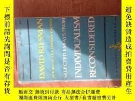 二手書博民逛書店大衛·裏斯曼罕見Individualism reconsideredY12487 David Riesman