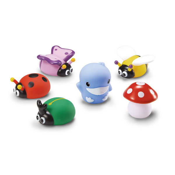 KUKU酷咕鴨水中玩具-花園昆蟲組
