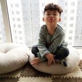 亞麻蒲團坐墊 加厚圓形大號布藝地板打坐日式陽台飄窗榻榻米坐墊