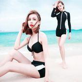分體泳衣女潛水服長袖水母衣沖浪服浮潛