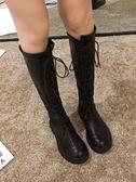 長靴女過膝靴2019新款秋季靴子ins百搭粗跟長筒秋款高筒騎士靴潮 喵小姐