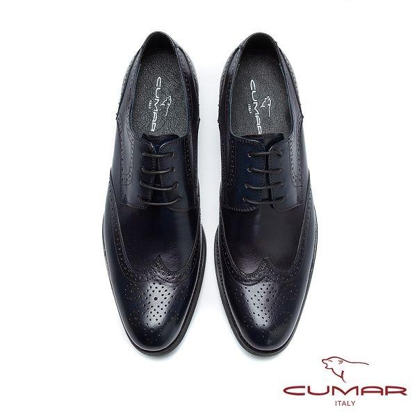 CUMAR英倫紳士 經典牛津休閒皮鞋-黑