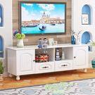電視櫃 歐式電視櫃客廳象牙白地櫃 北歐液晶電視機櫃簡約現代小戶型