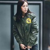 空軍外套-胸章刺繡肩章棒球服男女MA1夾克(單件)2色72av6[巴黎精品]