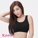 【Kanier卡妮兒】素色 素面款簡約輕著涼感有機棉.運動內衣1210(黑)