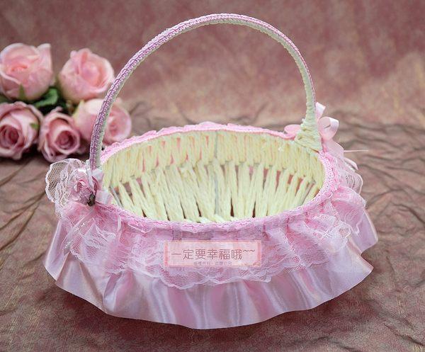 一定要幸福哦~~卡哇依花童籃、婚禮小物、喜糖、喜籃、花瓣