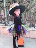 萬聖節服飾 萬聖節兒童服裝女童巫婆cos裝扮長袖可愛公主幼兒園小女巫演出服