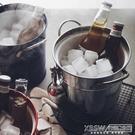 沁透整個夏天。雙層帶蓋冰桶加厚鍍鋅鐵皮收納桶家用飲料啤酒桶CY『新佰數位屋』