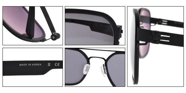 VYCOZ 太陽眼鏡 ZICO BLK (黑) 方框飛官造型 薄鋼眼鏡 # 金橘眼鏡