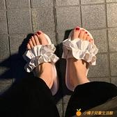 仙女風涼拖鞋女韓版百搭一字拖厚底度假甜美沙灘鞋【小橘子】