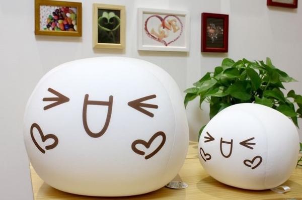 【10公分】吊飾 表情符號 炸雞塊君 顏文字 泡沫粒子抱枕 結婚禮物 絨毛玩偶 生日禮物 情人節禮物