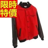 棒球夾克女外套-保暖棉質風靡時尚拼接英倫風時髦自信3色59h111【巴黎精品】