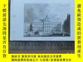 二手書博民逛書店【罕見】19世紀 銅 鋼版畫 單幅 TOWN HALL ANTW