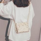 編織包 上新質感小包包女2020新款潮今年流行超火蕾絲少女鏈條水桶斜挎包 解憂