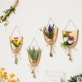 創意田園竹編仿真植物風鈴鈴鐺牆飾