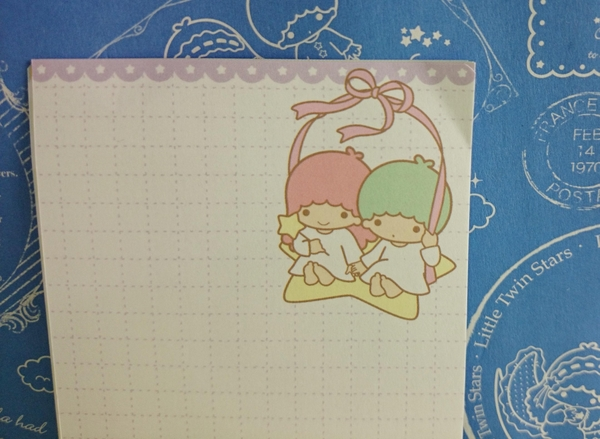 【震撼精品百貨】Little Twin Stars KiKi&LaLa 雙子星小天使~便利紙-綠色頭髮
