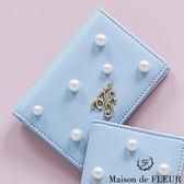 Maison de FLEUR ♡ 光澤感珍珠皮革名片夾/包 - Maison de FLEUR