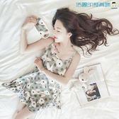 【618好康又一發】韓版睡衣女夏季短袖吊帶睡裙居家服