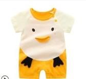 嬰兒連身衣服夏季女0薄款1歲網紅可愛短袖純棉新生男寶寶哈衣夏裝 滿天星
