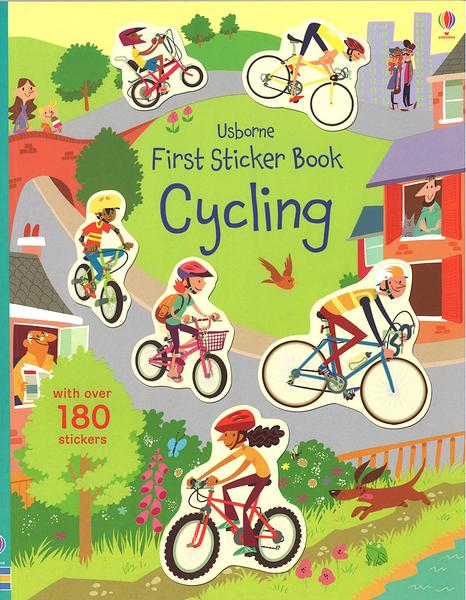 USBORNE FIRST STICKER BOOK CYCLING/貼紙書《腳踏車》