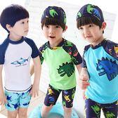(百貨週年慶)男童泳裝兒童泳衣男童分體小童泳褲4嬰兒寶寶中大童防曬泳裝5歲速干游泳衣