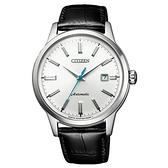 CITIZEN Mechanical摩登復古魅力機械腕錶-黑X銀