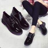 小皮鞋 春夏平底女鞋單鞋女士舒適工作黑色上班休閒皮鞋防滑防水工鞋 - 雙十二交換禮物