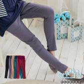 *孕味十足。孕婦裝* 【CNE6019】客戶推薦款純色瑜珈式修身窄管孕婦長褲 五色