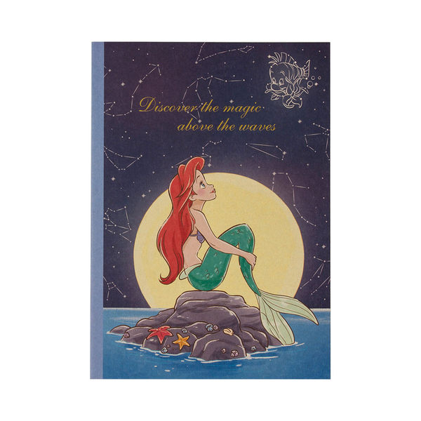 DISNEY迪士尼公主靜謐夜空系列B5膠裝筆記本(小美人魚)★funbox★sun-star_UA54217