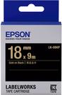 LK-5BKP EPSON 標籤帶 (黑底金字/18mm) C53S655407