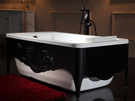 【麗室衛浴】德國BRAVAT 壓克力古典浴缸 B25515W-1KT2  1500*800*560mm
