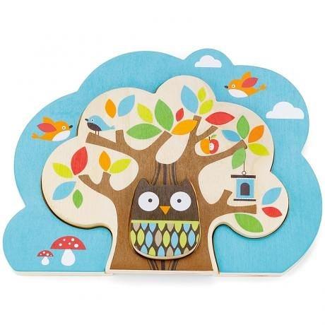 美國SKIP HOP Nesting Tree Puzzle好友森林拼圖套裝