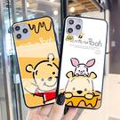 日韓Galaxy S21 Ultra手機套 三星卡通維尼熊note20手機殼 三星S20/S10/S9/S8 Plus保護殼 SamSung N10/N9/N8保護套
