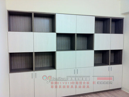 【歐雅系統家具】木門書櫃及書桌