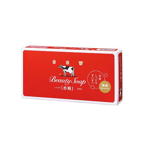 日本牛乳香皂玫瑰保濕100g*3【愛買】