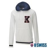 K-SWISS Heritage Hoodie時尚連帽上衣-男-白