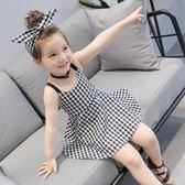 YAHOO618◮新春新品▶ 女童新品童裝 經典格子吊帶裙中小裙子1430 韓趣優品☌