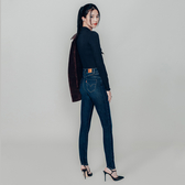 Levis 女款 Revel 高腰緊身提臀牛仔褲 / 超彈力塑形布料 / 深藍刷白 / Lyocell天絲棉