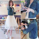 SISI【C9015】現貨韓版新款經典刷破修身防曬防風長袖牛仔丹寧外套短版外套女風衣
