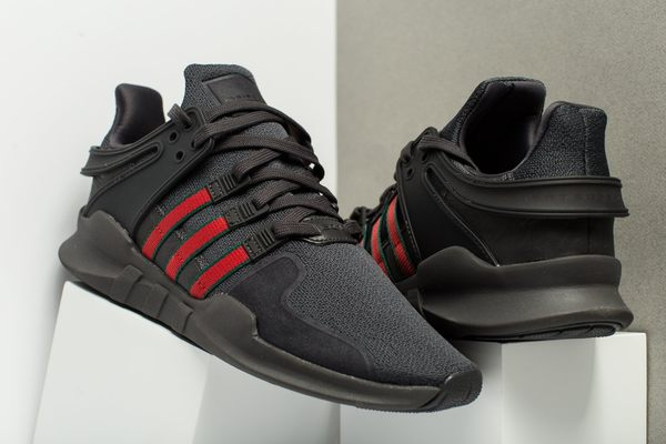 free shipping a9c0d 76a1a IMPACT Adidas EQT Support ADV Shoes GUCCI 黑 紅 綠 古馳 慢跑 BB6777